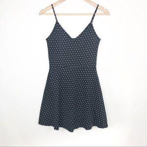 H&M Black Polka Dot Sleeveless Mini Dress Size S
